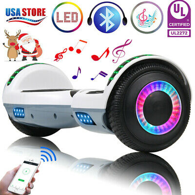 """6.5"""" Bluetooth Hoverboard LED Self Balancing Electric Scooter No Bag Scooters US"""