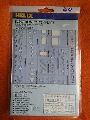 Helix Electronics Template H80 Design Technology Drawing Vintage England