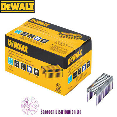 DEWALT 25 x 19mm INSULATED CROWN STAPLES PACK 540, FOR DCN701D2 - DRS18100-XJ