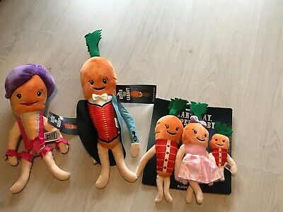 🥕 BN ALDI Kevin And Katie Carrot & Family 2019 Official Plush - Ready 2 Post 🥕