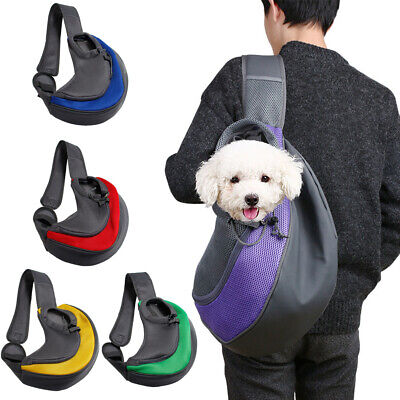 Pet Sling Carrier Tote Bag with Breathable Mesh Pouch for Small Dog Cat Rabbit