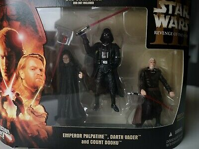 Star Wars Episode III 3 ROTS Collection Set 3 NEU Sith Lord Sidious Vader Doku