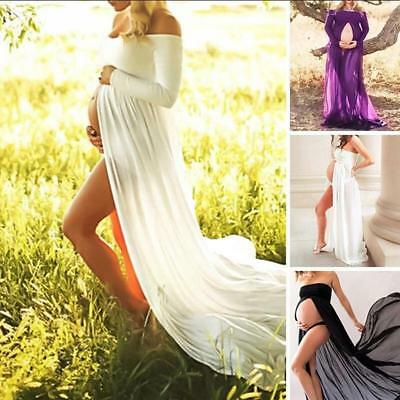 Maternity Women Lace Photography Long Pregnant Boho Maxi Gown Party Dress Prop