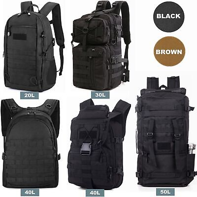 20L/30L/40L/50L Military Tactical Army Backpack Rucksack Camping Hiking Trekking