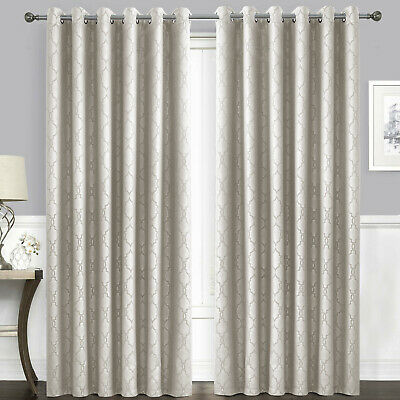 Thermal Blackout Eyelet Curtains Shimmer Glitter Sparkle Bling Effect Ready Made