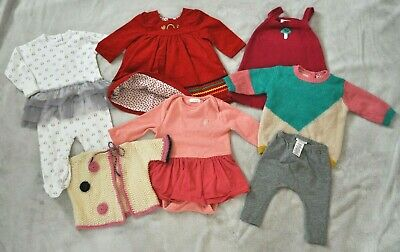 NEXT Baby Girl Bundle Set Clothes Dress Knits Pants Winter 3-6 Months 7 Items