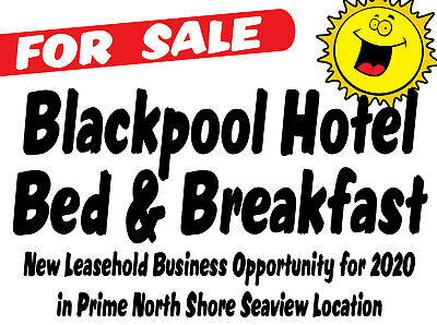NEW 2020 BUSINESS FOR SALE @ Licensed 3* Blackpool Hotel / B&B @ FAB Seaview