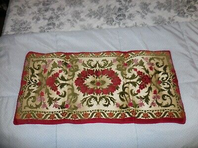 "Stunning Vintage Velvet Piano Bench Cushion Pillow Wow!! Must See!! 29"" X 14"""