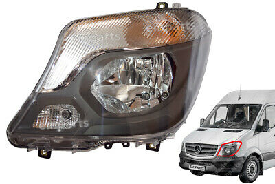 Mercedes Sprinter Headlamp Headlight Left Nearside Complete Front 2014 - 2018
