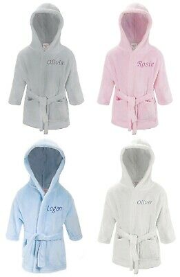 Personalised Baby Boy Girl Dressing Gown Bathrobe Name 0-24 Months