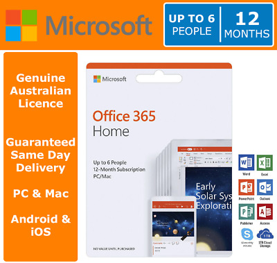 Microsoft Office 365 Home - Up to 6 People | 12 Months > CYBER MONDAY EXTENDED