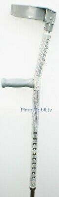 Coloured Silver Diamant'e Crutch (Single in Any Colour)