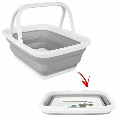 Foldable Silicone Collapsible  Storage Multipurpose Shopping Camping Bucket 7852