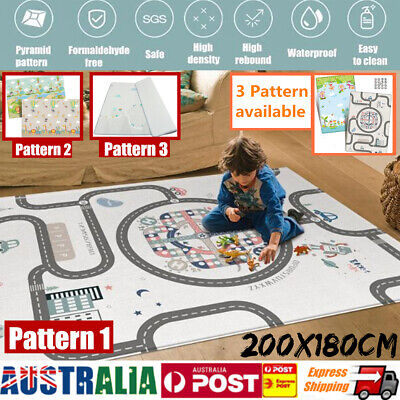 200*180cm Crawling Thick Play Mat Game Rug Pat Children Baby Carpet Floorcover