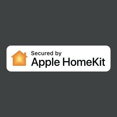 """Secured by Apple HomeKit"" window decal sticker home alarm"