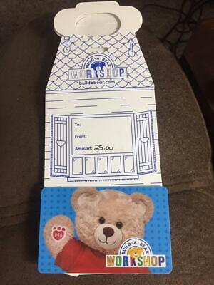 $25 Build A Bear Gift Card with house holder