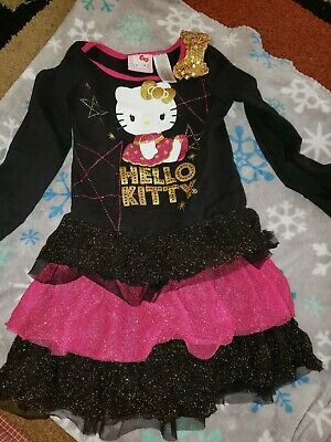 Hello Kitty Girls Dress and Shirt Size 4/5 Used