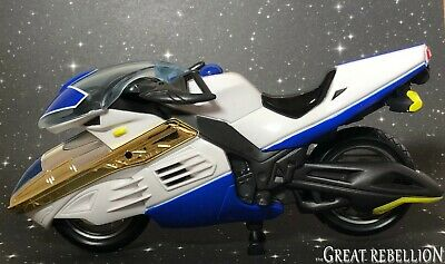 MMPR Power Rangers Time Force Blue Vector Cycle vehicle motorcycle 2000 Bandai