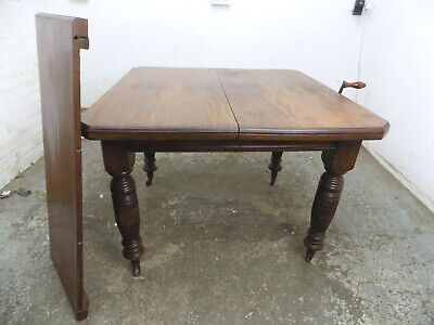antique,victorian,mahogany,extending,wind out,dining table,turned legs,castors