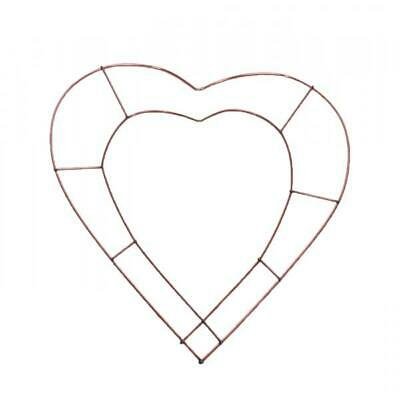 "12"" HEART Flat Wire WREATH MAKING RING FRAMES HOLLY CHRISTMAS CRAFT"