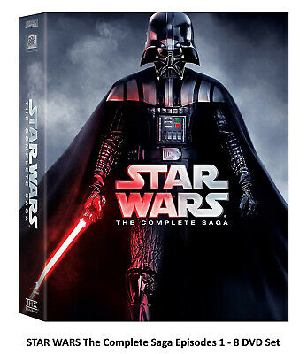 STAR WARS The Complete Saga Episodes 1 - 6 DVD Box Free Shipping NEW