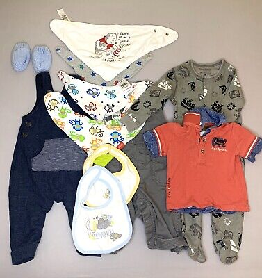 Baby Dungree Sleep Suits Scratch Mitts Bips T Shirt Joblot