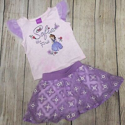 Disney Princess Sofia the First  Girls  2pc  Outfit Sizes 2T