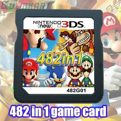 NDS 482 in 1 Game Cartridge Mario Multicart for Nintendo DS Lite NDSi 3DS 2DS XL