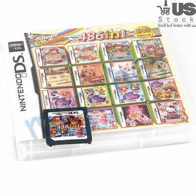 486 In 1 Games Game Multi Cartridge For Nintendo DS NDS NDSL NDSi 3DS 2DS XL US