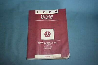 1984 Dodge D//W 100-350 Truck /& Ramcharger Shop Service Repair Manual CD Engine