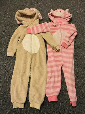 Girls Next All In Ones x 2  One Pink One Beige Age 3/4