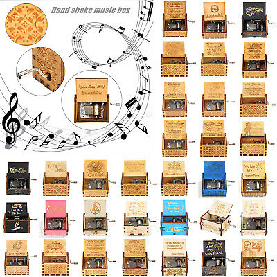 Harry Potter Music Box Engraved Wooden Music Box Interesting Toys Xmas Kids Gift
