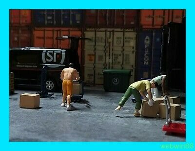 6 MAINTENANCE WORKER 1:64 Figure SET A HH SCENES @ excluded car