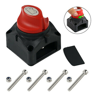 12V-48V DC Battery Isolator Switch Cut Off Disconnect Power Kill for Car Truck