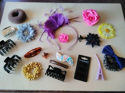 20 Girls Ladies Hair accessories Fascinator Claw clips Hair Clips Slides grips