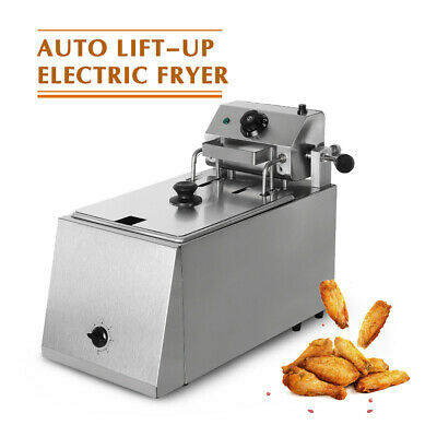 ITOP Stainless Steel Commercial Electric Auto Lift Deep Fryer Single Tank 8L