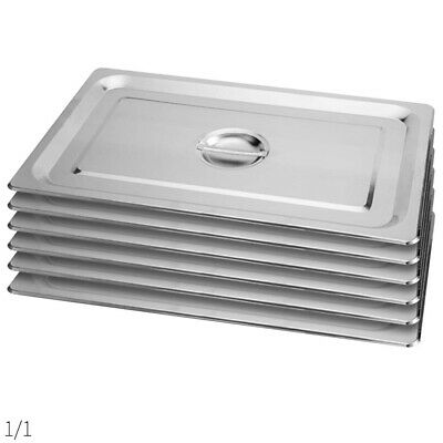 SOGA 6X Commercial 1/1 Stainless Steel Gastronorm GN Pan Lid Tray Top Cover