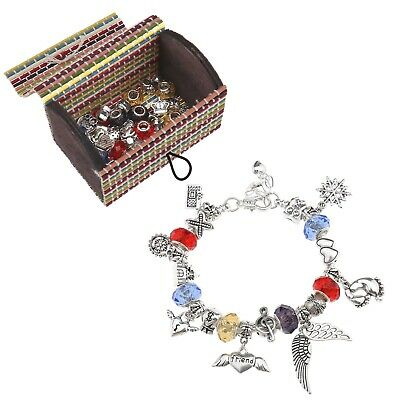 Fashion Chain Bracelet Beads Set Charm DIY Gift for Birthday Party Festival