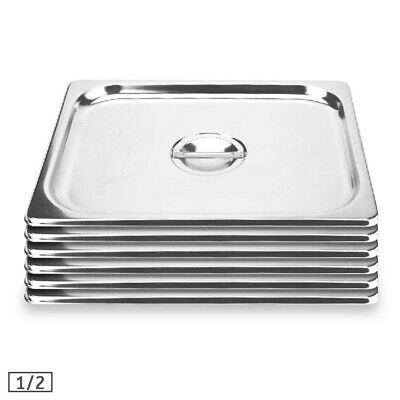 SOGA 6X Commercial 1/2 Stainless Steel Gastronorm GN Pan Lid Tray Top Cover