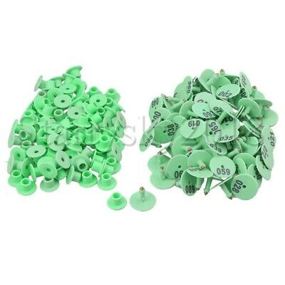 100pcs Round Pig Sheep Goat Caw Cattle Livestock Ear Numbered Tag Labels
