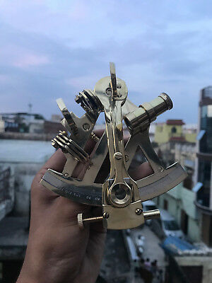 New Design 5 Inches Brass Nautical Sextant - Vintage Navigat Ship Instrument