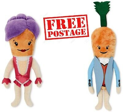 Official Aldi Kevin & Katie the Carrot 2019 Christmas Costume Plush Soft Toy Set