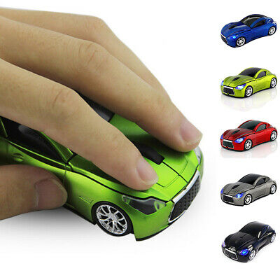 2.4GHz Wireless 1200DPI 3D Car Shape Optical Usb Gaming Mouse for PC laptop UK