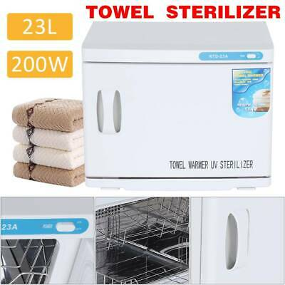 AU 23L Hot Towel Warmer UV Sterilizer Cabinet Heater Salon Disinfection Beauty