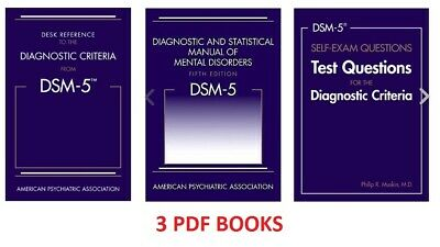 3 BOOKS Diagnostic and Statistical Manual of Mental Disorders 5th Edition DSM-5
