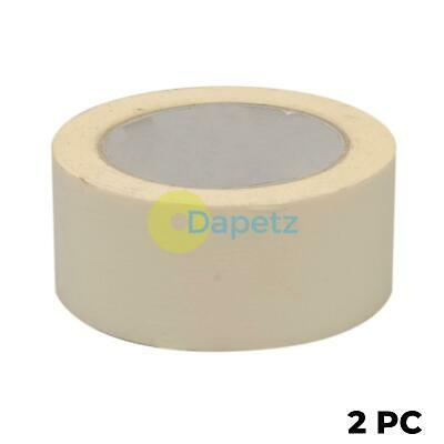 2x Masking Tape Paint Decorate Label Low Tack Multi-purpose DIY 50mmx50m Roll