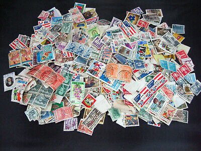 U.S. & Foreign Used Stamp Lot 3.3 oz Off Paper Crafts Collage School Project