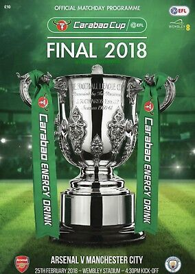 Arsenal v Manchester City - Carabao Cup Final - 25 February 2018 - Mint
