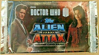 Topps Doctor Who Alien Attax Trading Card Game Booster Pack With Free UK Postage