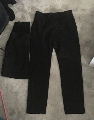 Next Boys Black Age 14 Years School Trousers Chino Style Slim Fit Bundle 2 Pairs